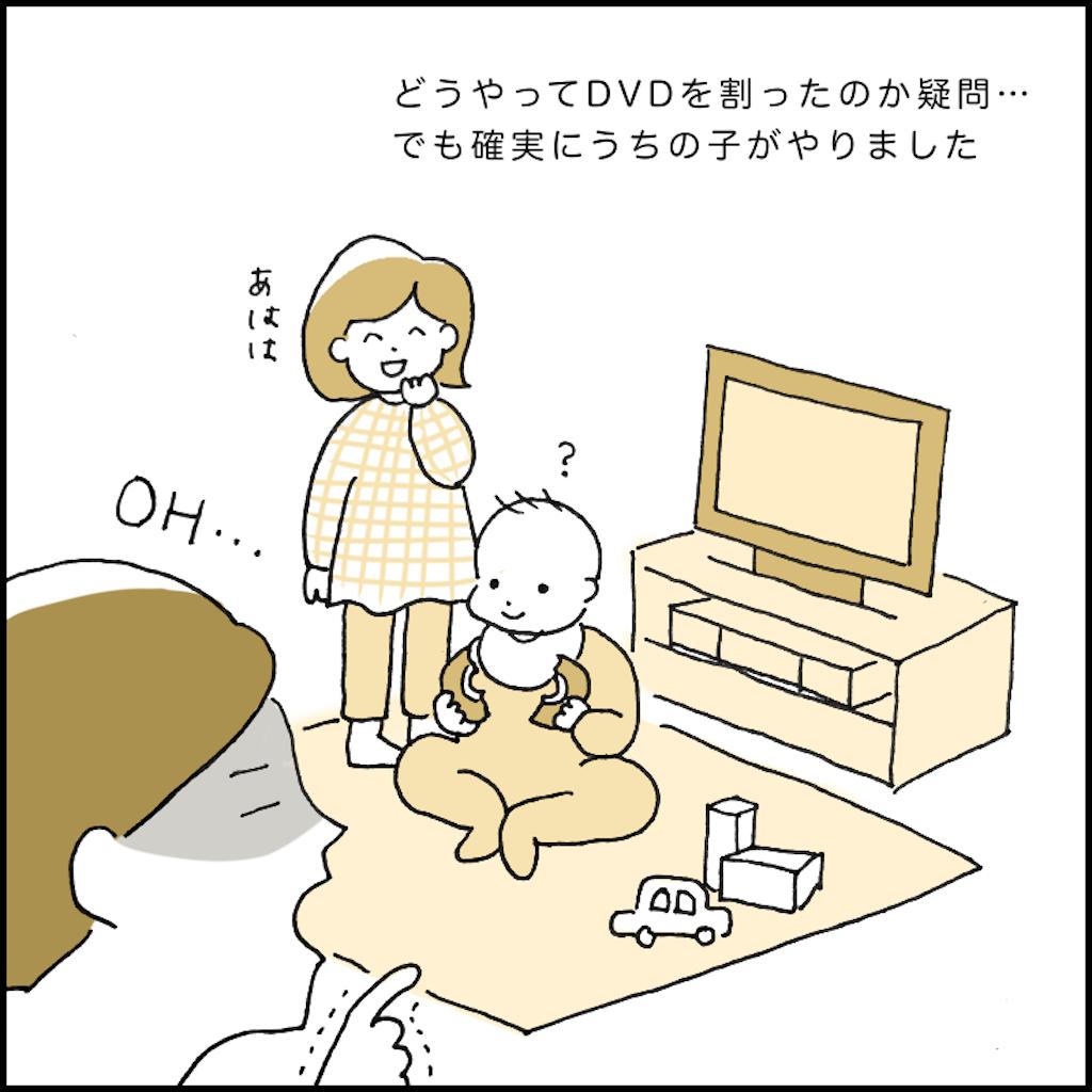 DVDを割る子供