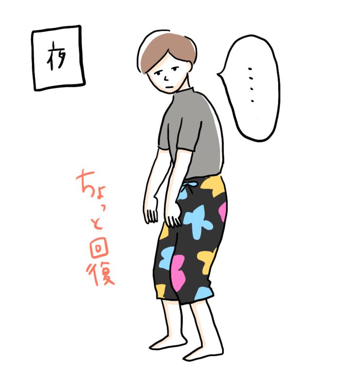 猫背の女性(夜)