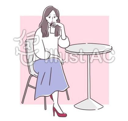 カフェで寛ぐ女性