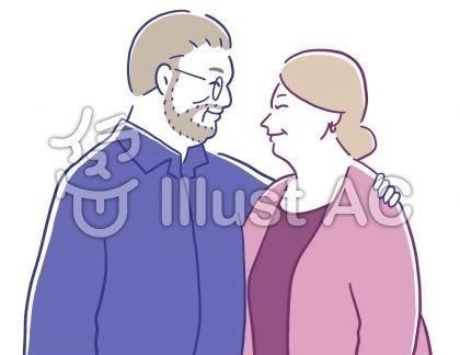 見つめ合う老夫婦