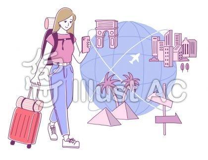 世界を旅する女性