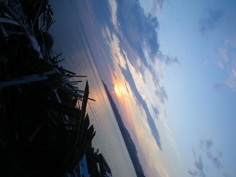 石巻市の夕日
