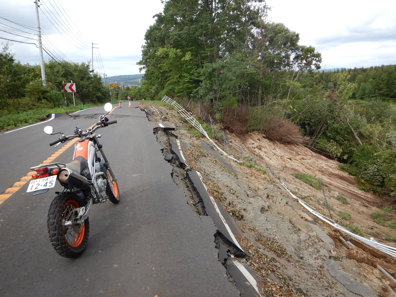 バイクを使い状況把握