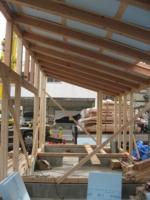 吉良町のコートハウス リビング木架構 名古屋設計事務所