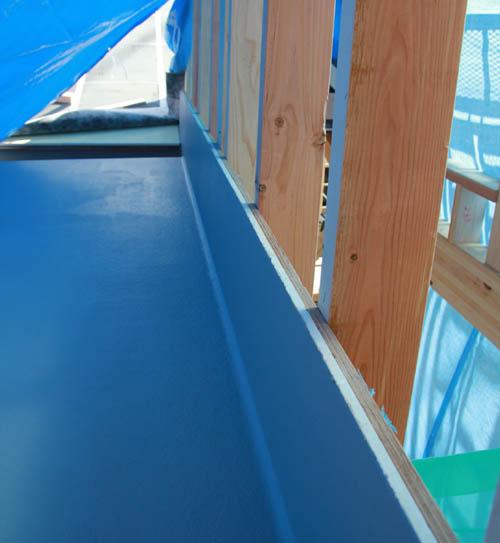 吉良町のコートハウス FRP防水 名古屋設計事務所