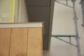 吉良町のコートハウス 外壁米ヒバ塗装1回目 名古屋設計事務所