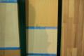 吉良町のコートハウス 内部木部色決め 名古屋設計事務所