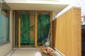 外壁 米ヒバ貼のオスモ塗装2回目