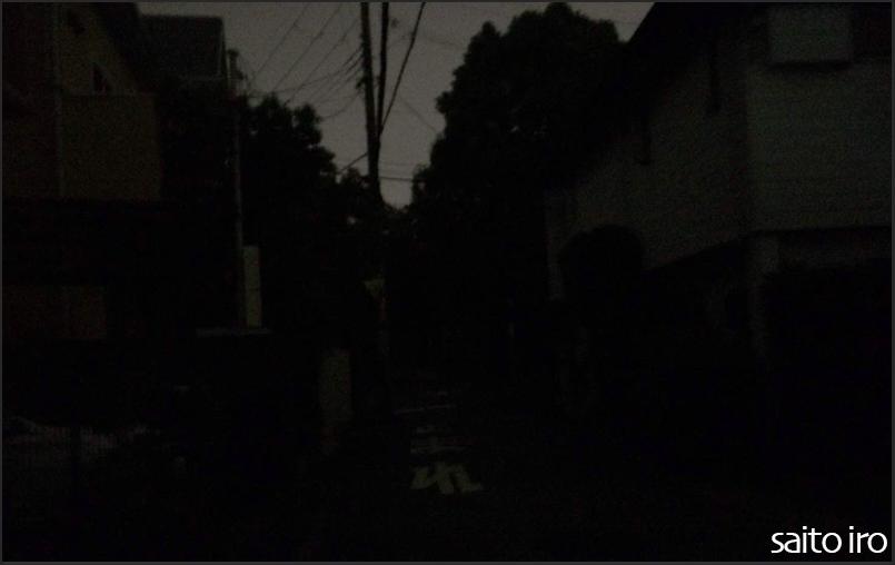 台風21号による停電の街