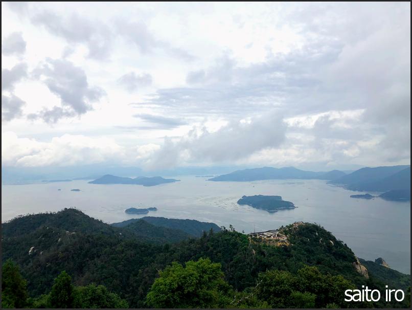 弥山山頂からの景色