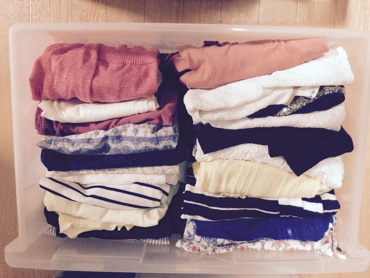 服の管理は衣装ケース