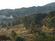 崩れた山の斜面(2005年10月)
