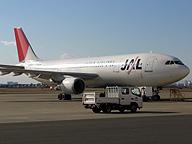 日本航空の別な機材。忘れ物に注意