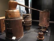 ヨーロッパでスピリッツを得るために使われた蒸留器(国立民族学博物館)。日本ではこの種のものは発明されず、渡来して使われるようになった