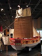 詳細な設計図はなく、職人が互いに影響し合って作った船舶(御朱印船/模型・国立歴史民俗博物館)