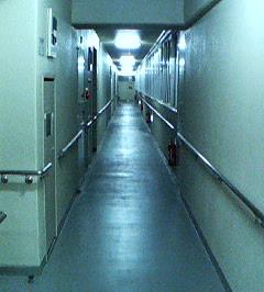 2年前に住んでた場所の廊下