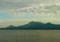 小長井駅付近から見た雲仙・島原半島