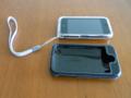 [apple]成田空港で入手したクリアケアカバーと数日間使った革のケース