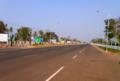 [lao]整備されたSEA Game Stadium前の道路。