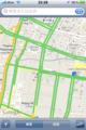 [thai][apple]バンコクだと「渋滞状況」が見える