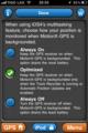 [apple]MotionX-GPSのMultitasking設定画面