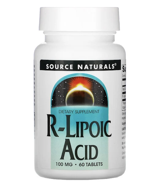 Source Naturals, R-リポ酸、100mg、タブレット60粒