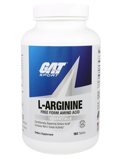 GAT, L-アルギニン、遊離型、180粒