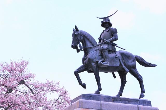 伊達政宗の銅像画像