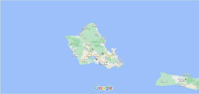 オアフ島 グーグルマップ