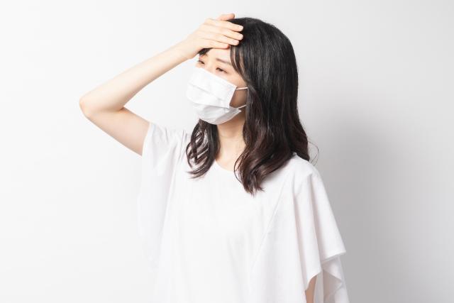 病気の女性画像