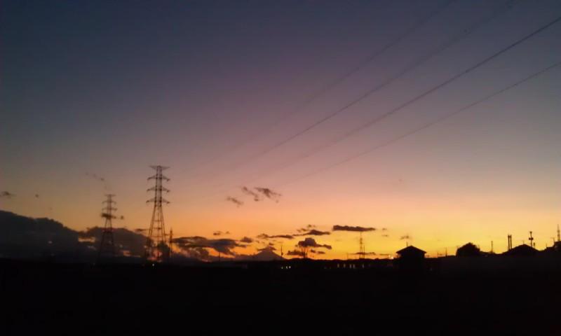 内装ホイールの出張修理☆佐藤企画のブログ-夕焼け富士山