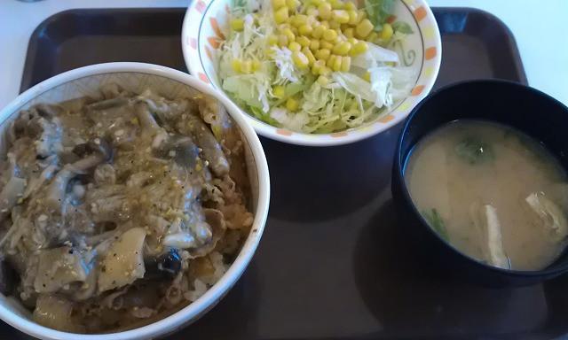 内装ホイールの出張修理☆佐藤企画のブログ-きのこペペロンチーノ牛丼