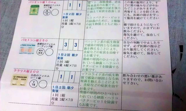 内装ホイールの出張修理☆佐藤企画のブログ-ピロリ菌除去