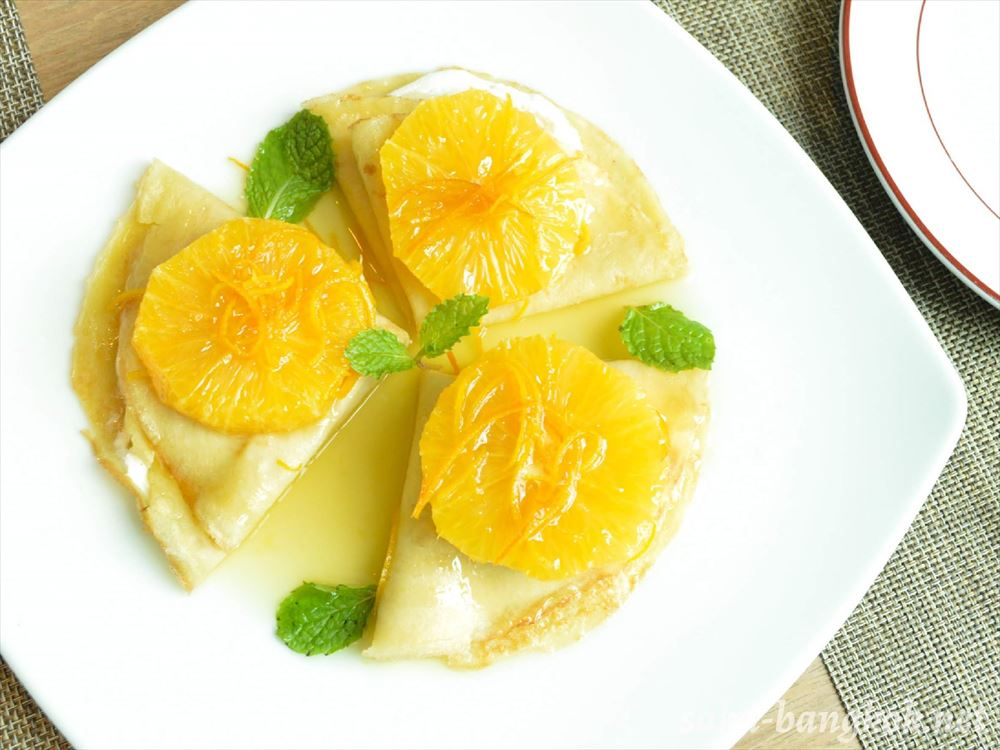 Orange Mascarpone Crepes 285++(約1,110円)