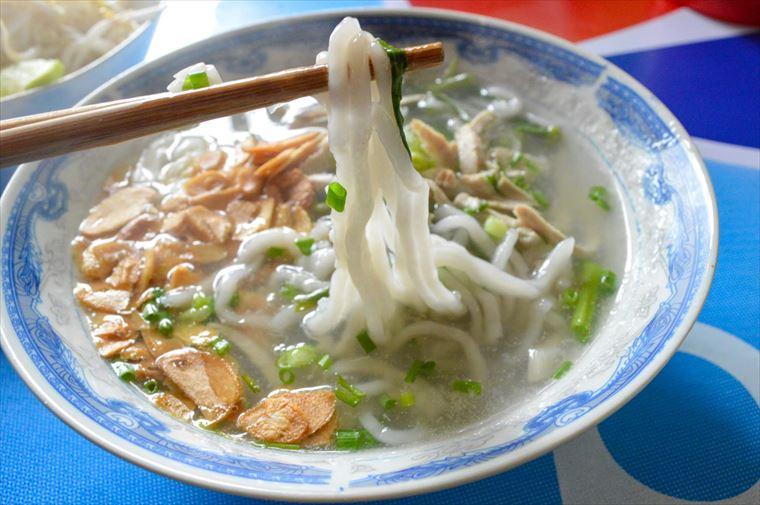 シェントーンヌードルのカオピヤックセンの麺