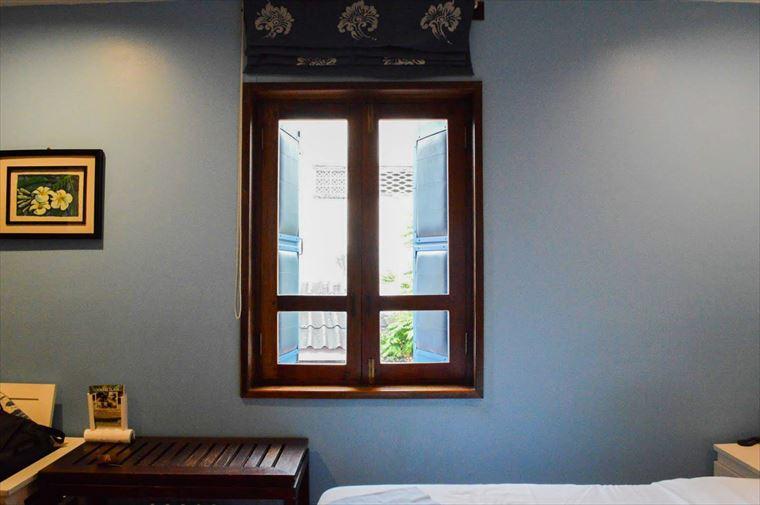 ルアンパバーンの【Indigo House Hotel】の窓
