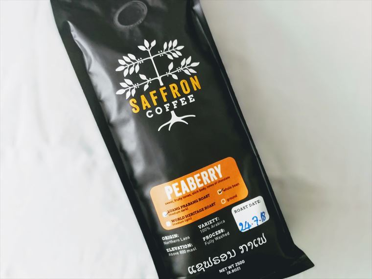 ラオス・ルアンパバーンSAFFRON COFFEEのコーヒー豆