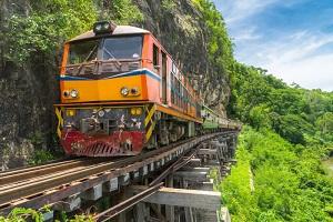 タイのカンチャナブリ 泰緬鉄道