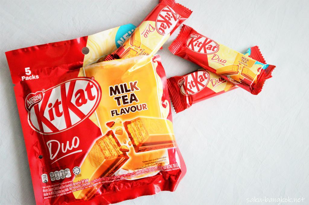 キットカットDuo Packs ミルクティー味 69バーツ(約230円)