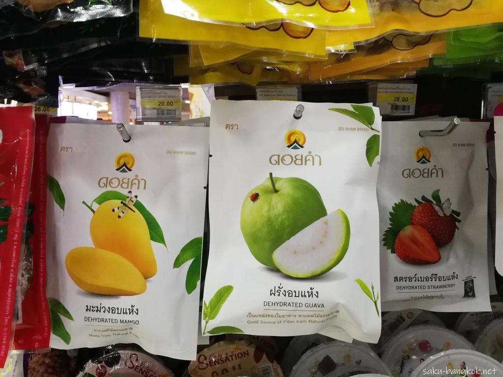 スワンナプーム国際空港で売っているドライフルーツ