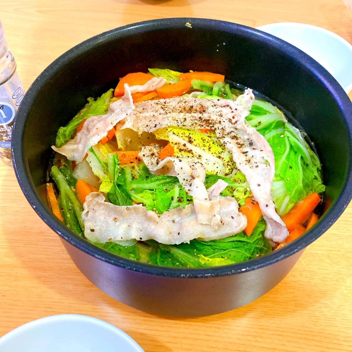 豚肉と白菜のお鍋の写真