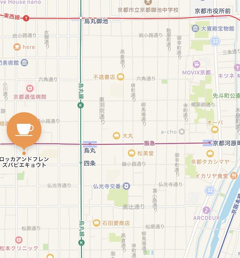 「PAPIER KYOTO」の地図
