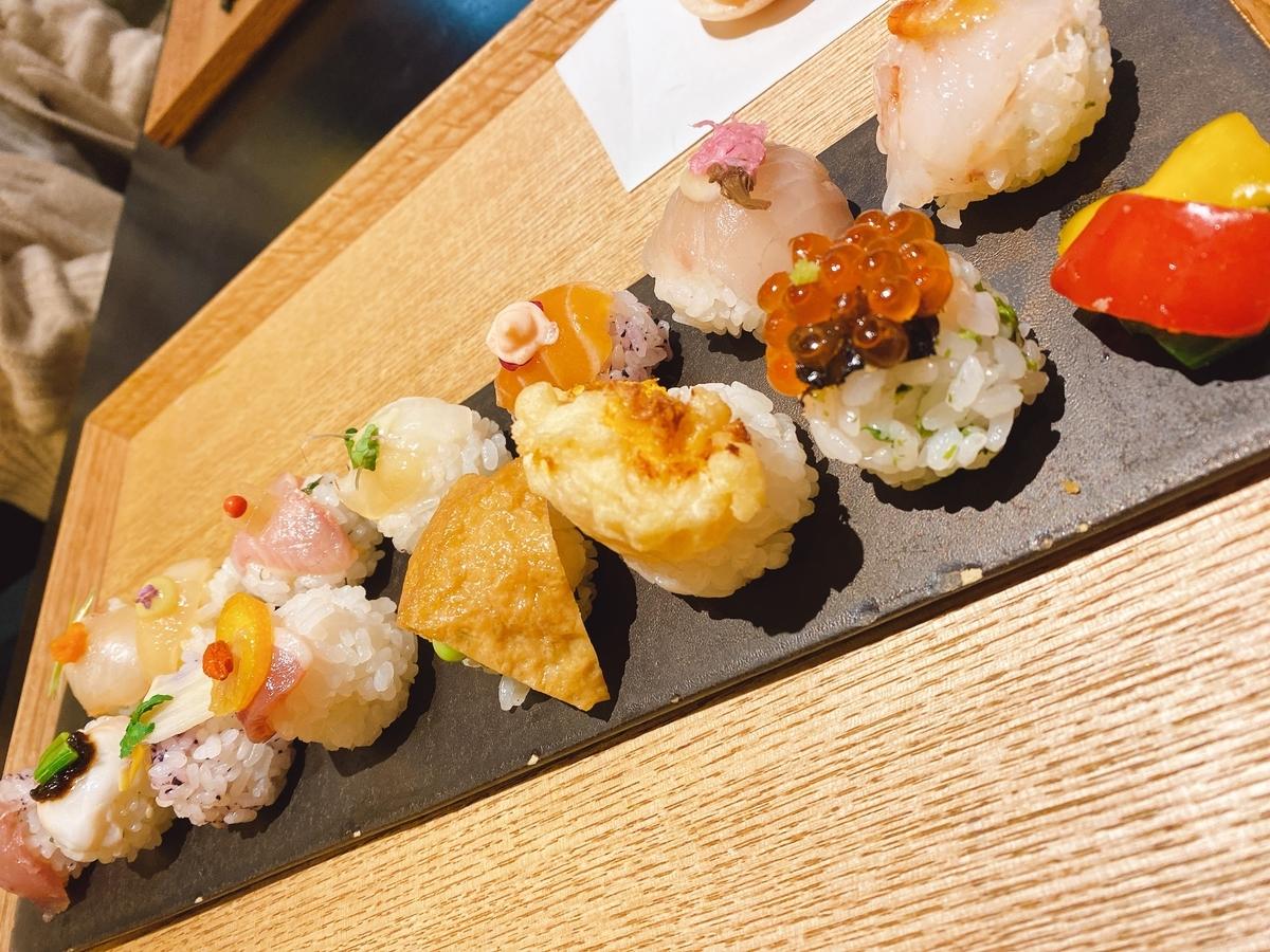 手鞠寿司の写真