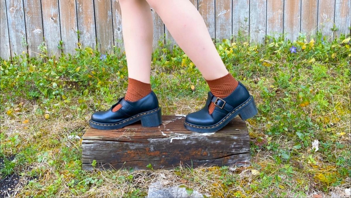 茶色い靴下の写真