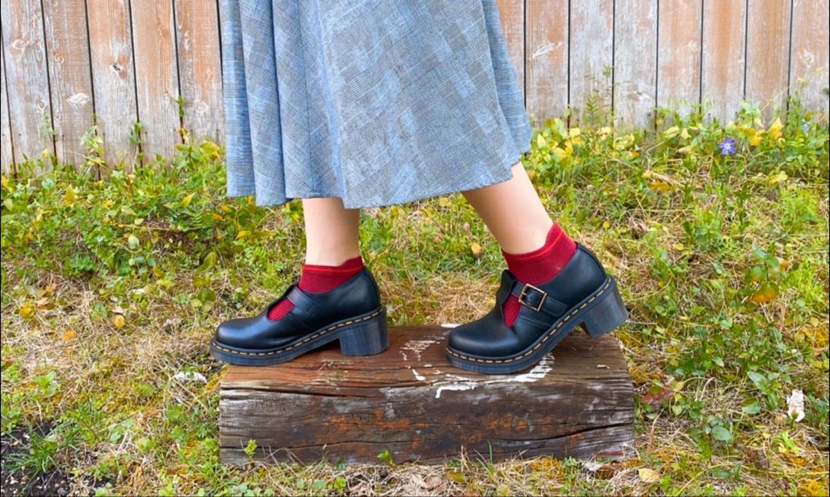 赤い靴下の写真