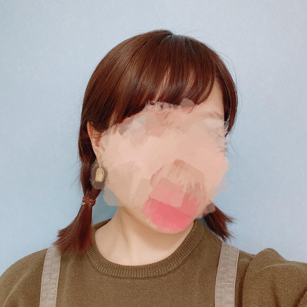 三つ編みツインの写真