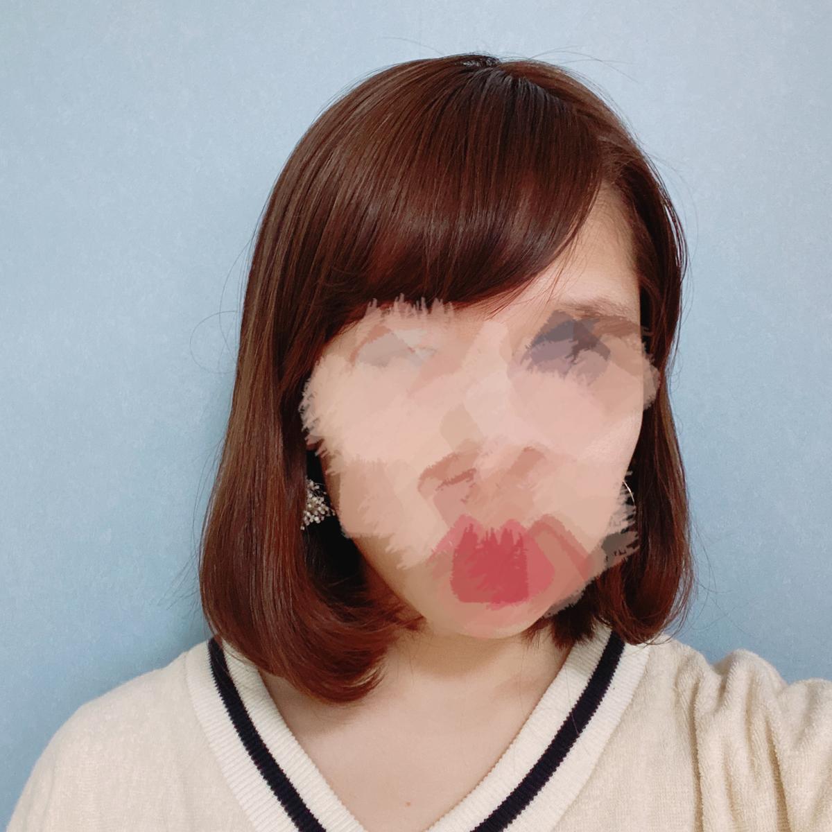 内巻きヘアーの写真