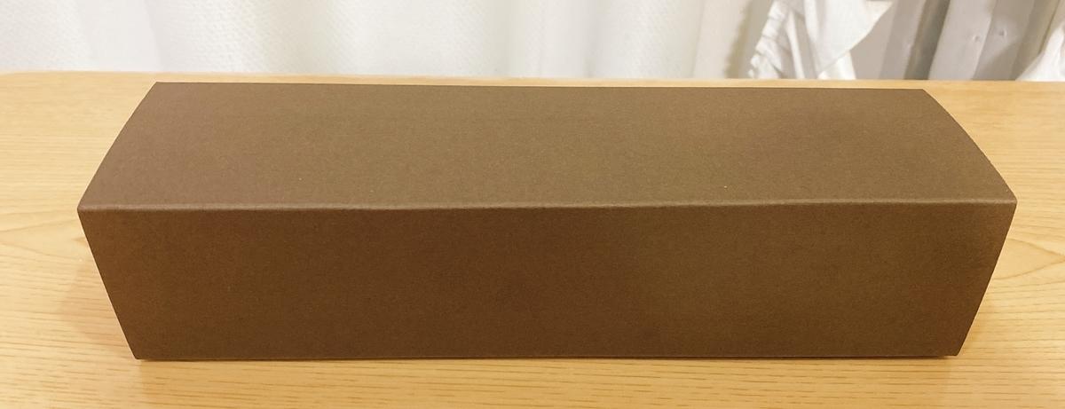 5種類のあんぱんを入れてくれた焦げ茶色の箱の写真