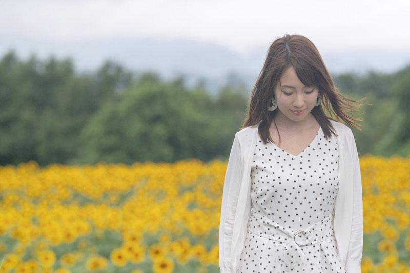仲良しの声優、加藤英美里ちゃんと今年の夏に プライべートでひまわり畑に行って 撮ってもらった写真