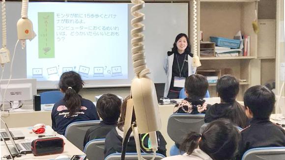 さくらの学校支援プロジェクトで展開している小学校への「出前授業」